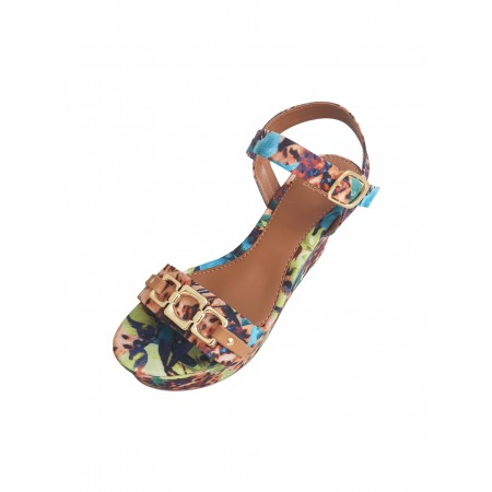 Anabela Ala Oxford Olivia Multicolor Caju Ref.:A1435.8972